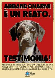 Locandina della Giornata nazionale contro l'abbandono (cane) – Fonte: ENPA #Tucherazzadiuomisei – Fonte: LNDC