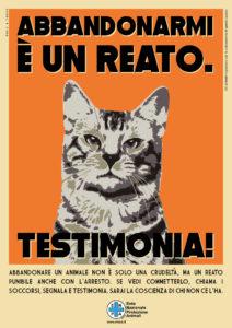 Locandina della Giornata nazionale contro l'abbandono (gatto) – Fonte: ENPA