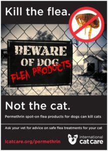 Non usare sui gatti – Fonte: ENPA Monza