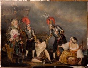 Arresto di Caravaggio a Palo,realizzato dal maestro Venanzoni