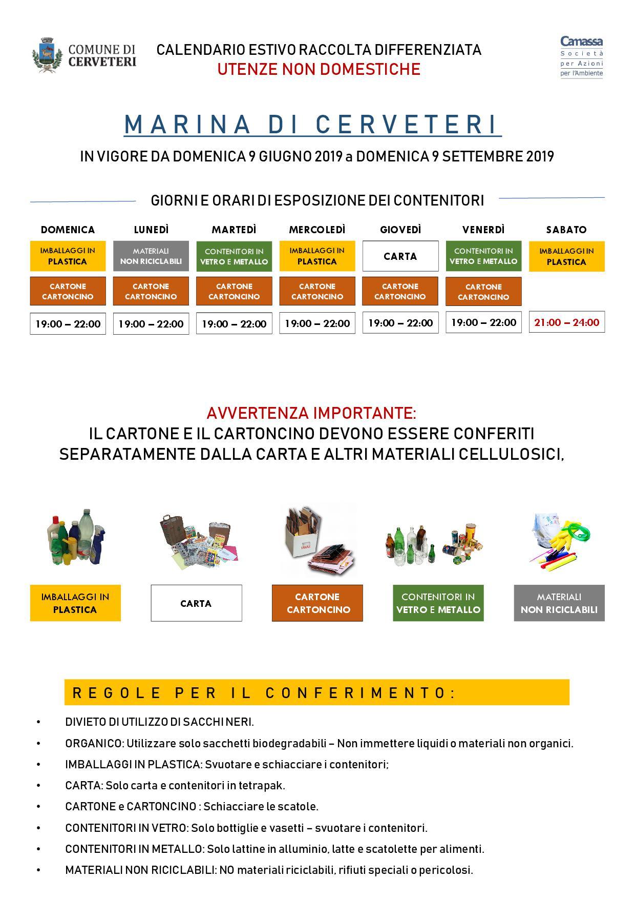Calendario Raccolta Differenziata Sanremo.A Cerveteri Al Via La Raccolta Separata Di Carta E Cartone